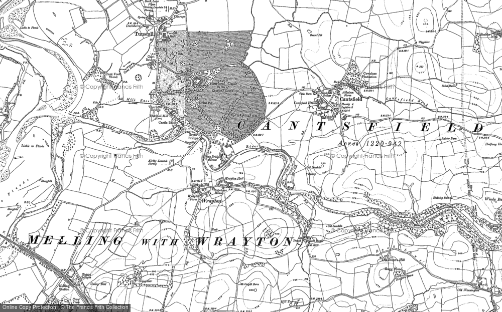 Old Map of Wrayton, 1910 in 1910
