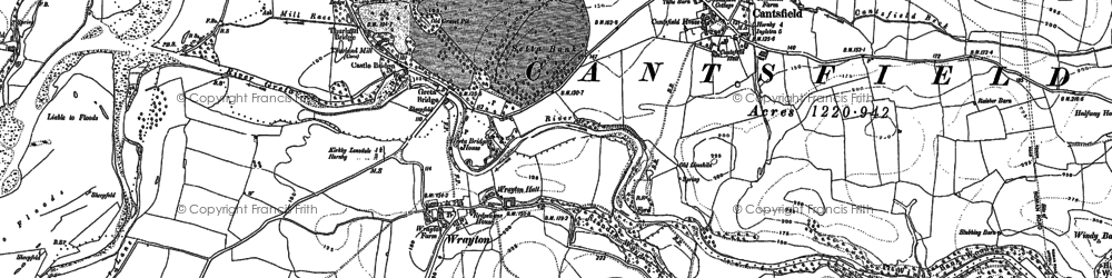 Old map of Wrayton in 1910