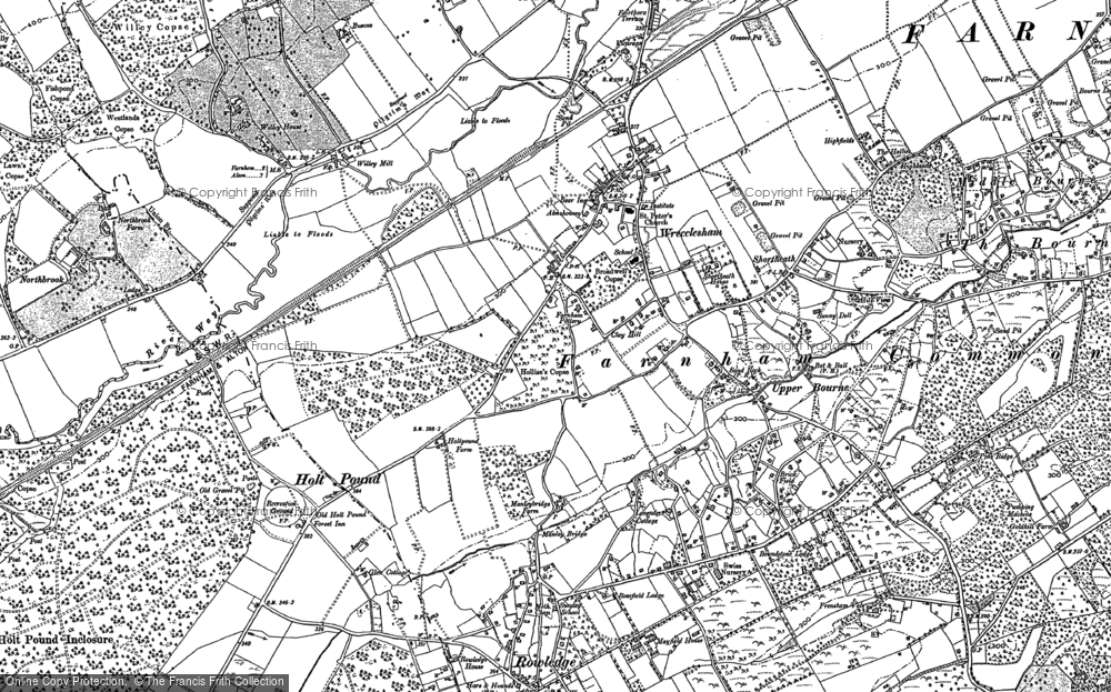 Map of Wrecclesham, 1909