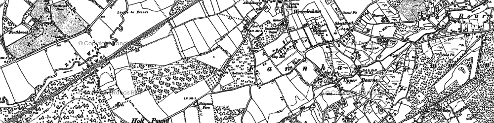 Old map of Wrecclesham in 1909