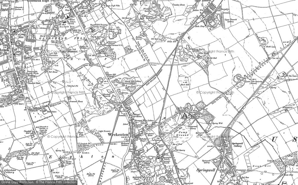 Old Map of Wrekenton, 1895 in 1895