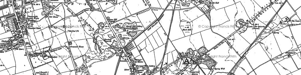 Old map of Wrekenton in 1895