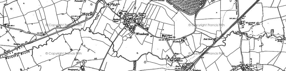 Old map of Wrenbury Sta in 1897