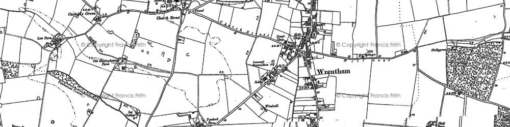Old map of Wrentham Great Wood in 1903