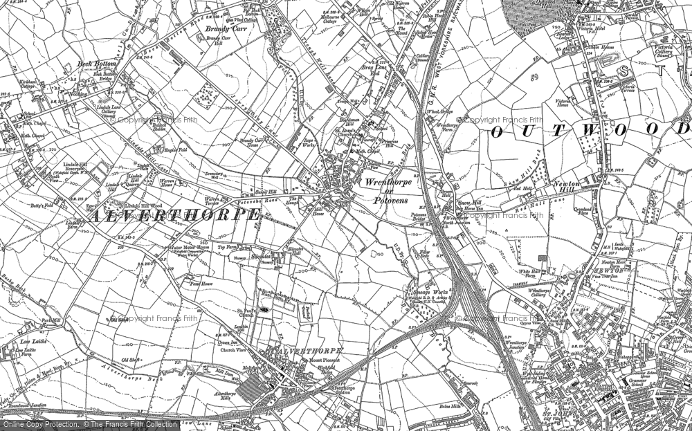 Old Map of Historic Map covering Balne Beck in 1890