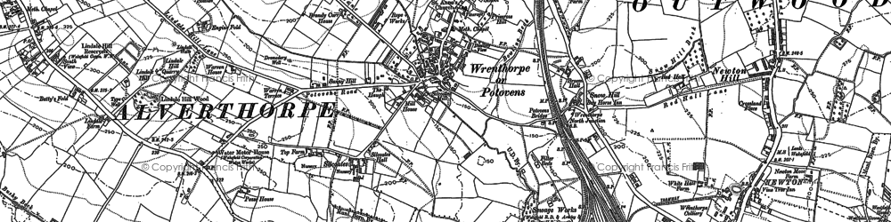 Old map of Balne Beck in 1890