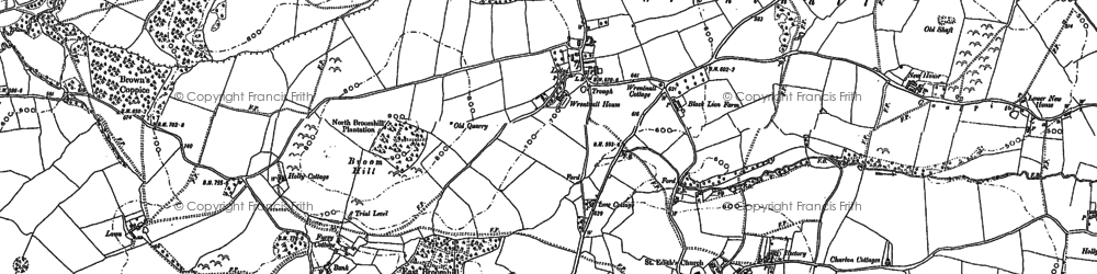Old map of Wrentnall in 1881