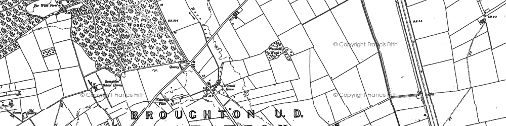 Old map of Wressle in 1885