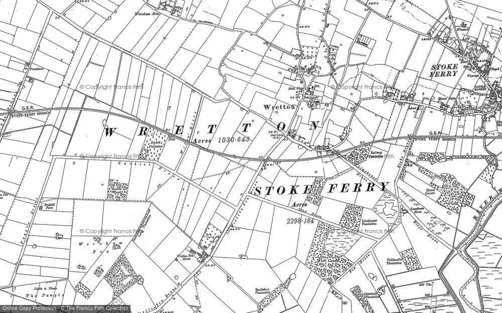 Map of Wretton, 1884