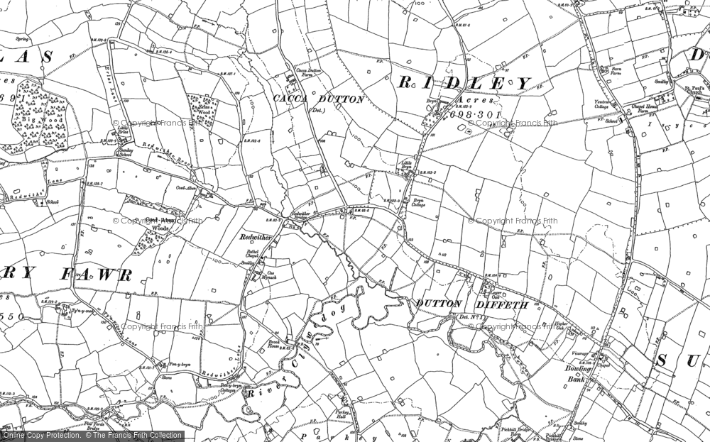 Old Map of Wrexham Industrial Estate, 1909 in 1909