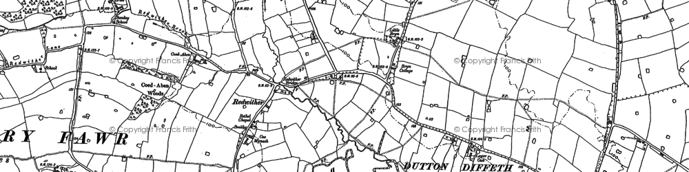Old map of Wrexham Industrial Estate in 1909