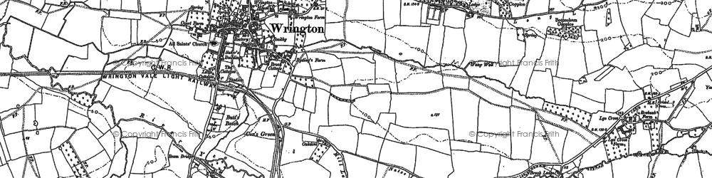 Old map of Wrington in 1883