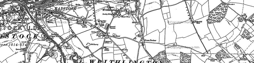Old map of Writhlington in 1884