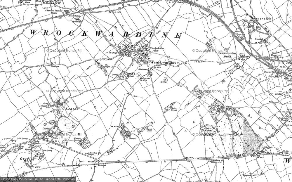 Old Map of Wrockwardine, 1881 - 1882 in 1881