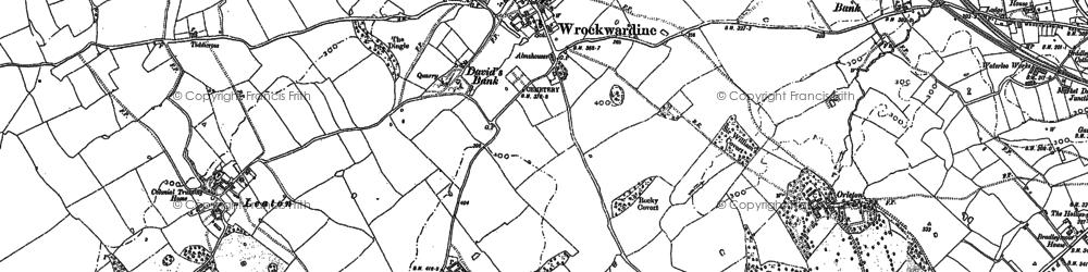 Old map of Wrockwardine in 1881