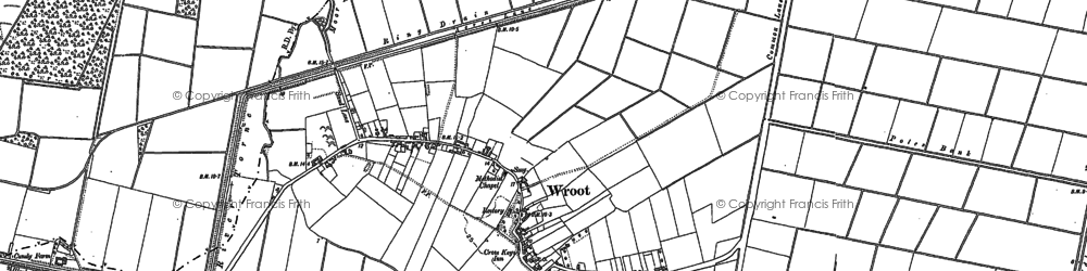 Old map of Wroot in 1885