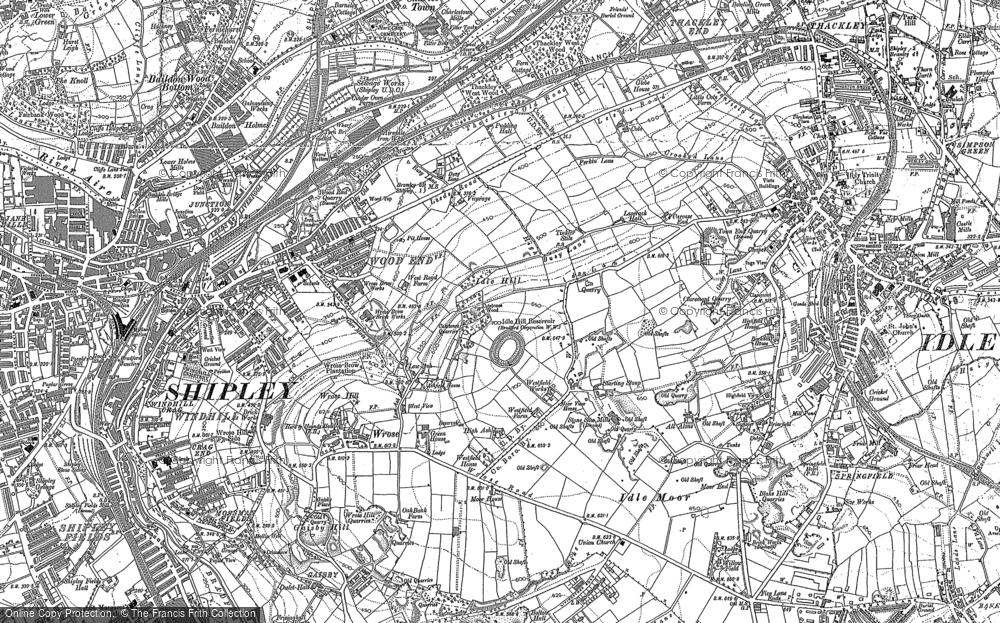 Map of Wrose, 1891 - 1892