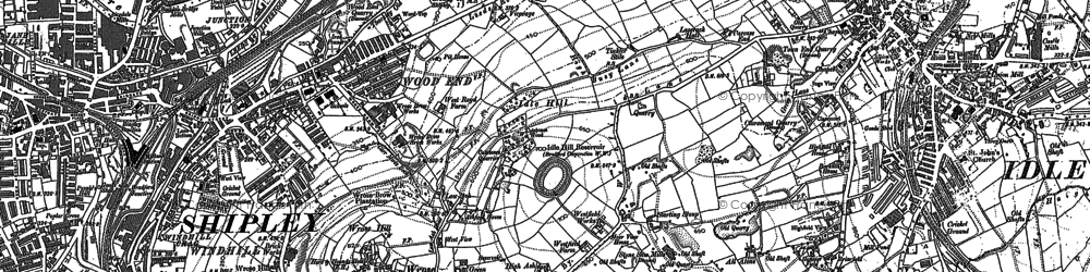 Old map of Wrose in 1891
