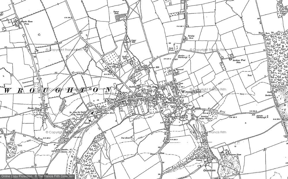 Map of Wroughton, 1899