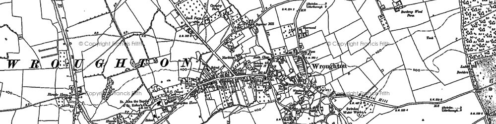 Old map of Wroughton in 1899