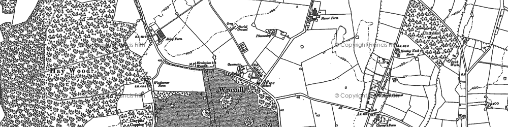 Old map of Wroxall in 1886