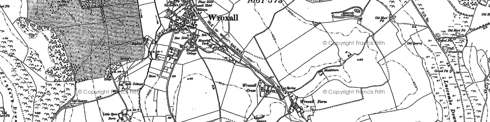Old map of Wroxall in 1907