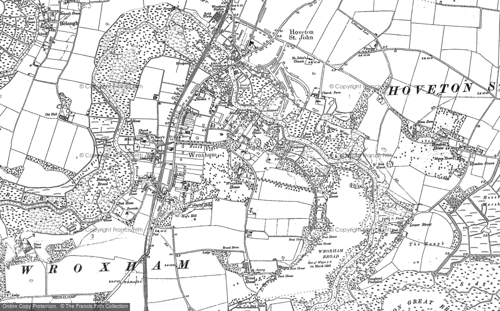 Old Map of Wroxham, 1880 - 1881 in 1880