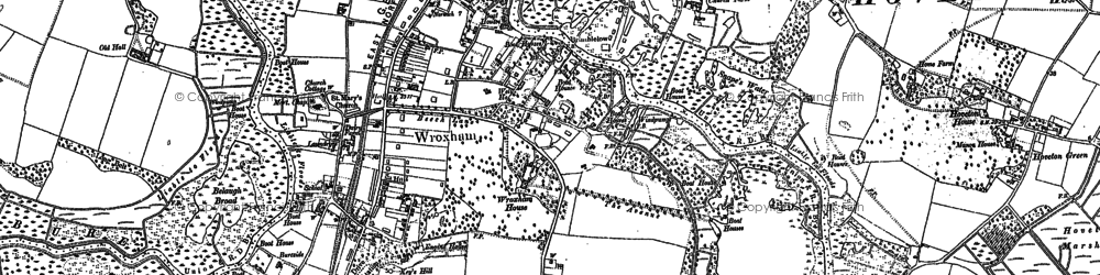 Old map of Wroxham in 1880