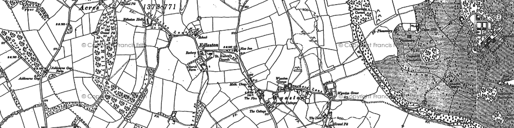Old map of Wyaston in 1880