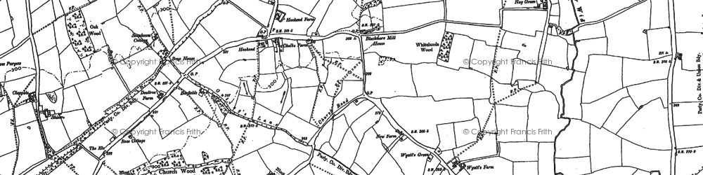 Old map of Wyatt's Green in 1895