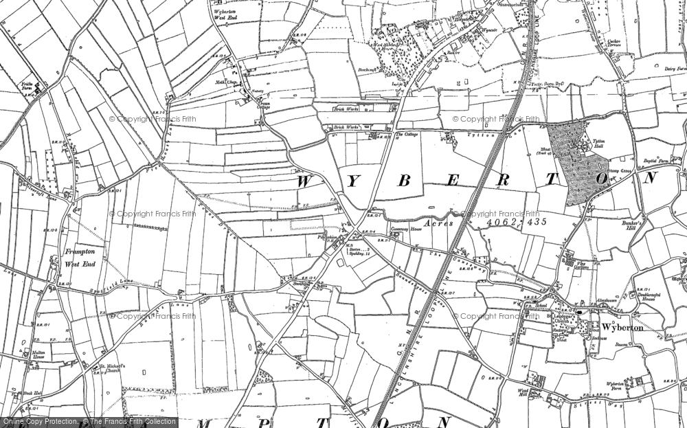 Old Map of Wyberton, 1887 in 1887