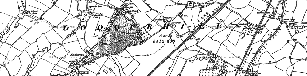 Old map of Astwood in 1883