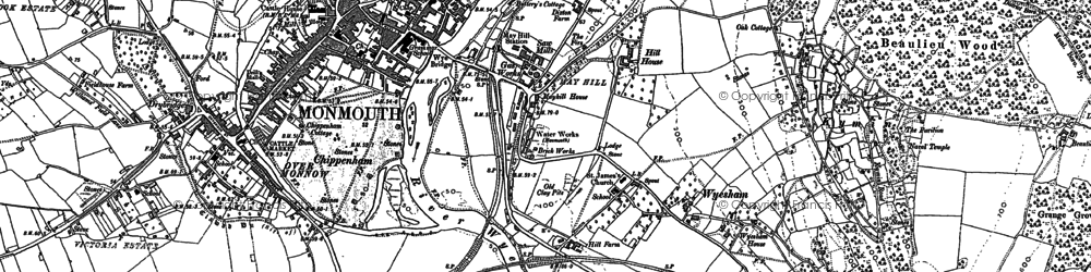 Old map of Wyesham in 1900