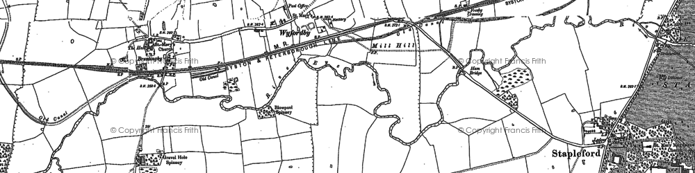 Old map of Wyfordby in 1902