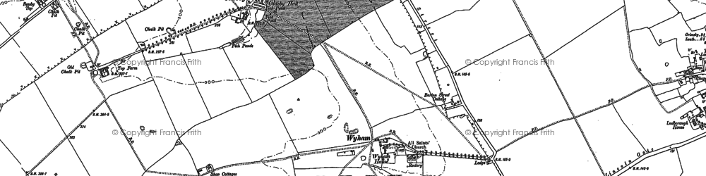 Old map of Wyham in 1887