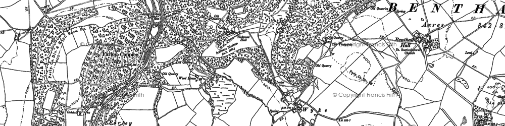 Old map of Wyke in 1882