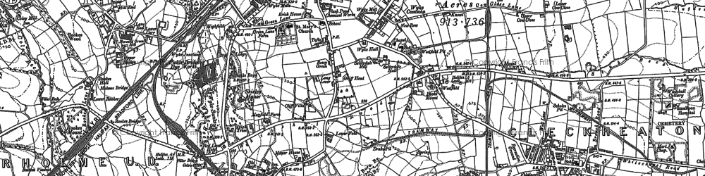 Old map of Wyke in 1892