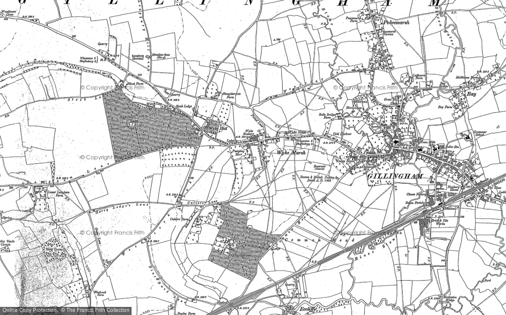 Old Map of Historic Map covering Woodhouse Cross in 1900