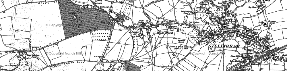 Old map of Bainly Bottom in 1900