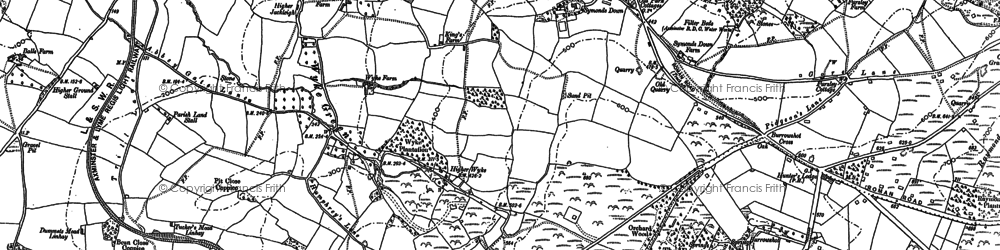 Old map of Wyke Green in 1903