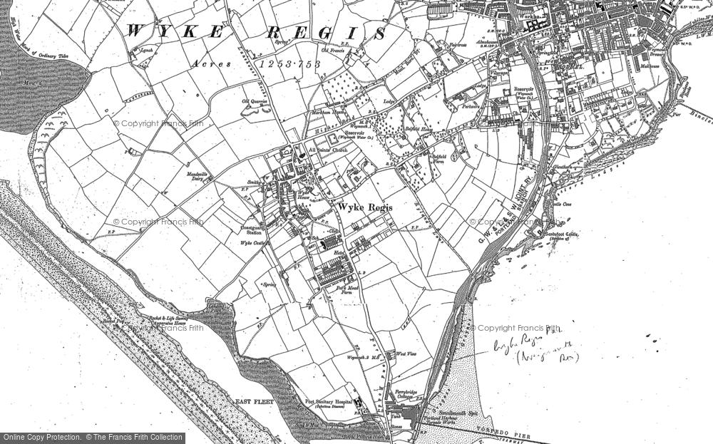 Map of Wyke Regis, 1927