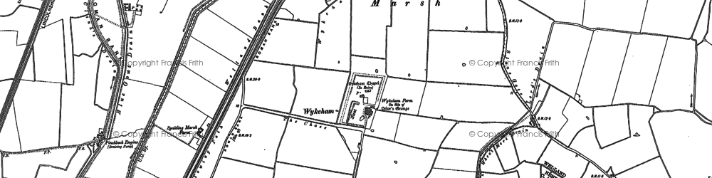 Old map of Wool Hall in 1887