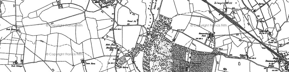 Old map of Wykey in 1880