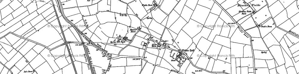 Old map of Wykin Fields in 1886