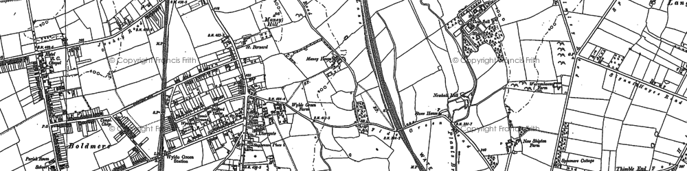 Old map of Wylde Green in 1901