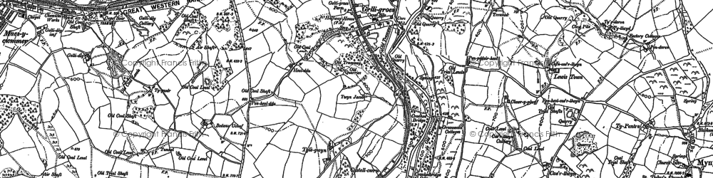 Old map of Wyllie in 1899