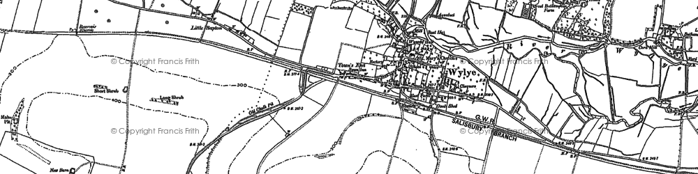 Old map of Bake, The in 1899