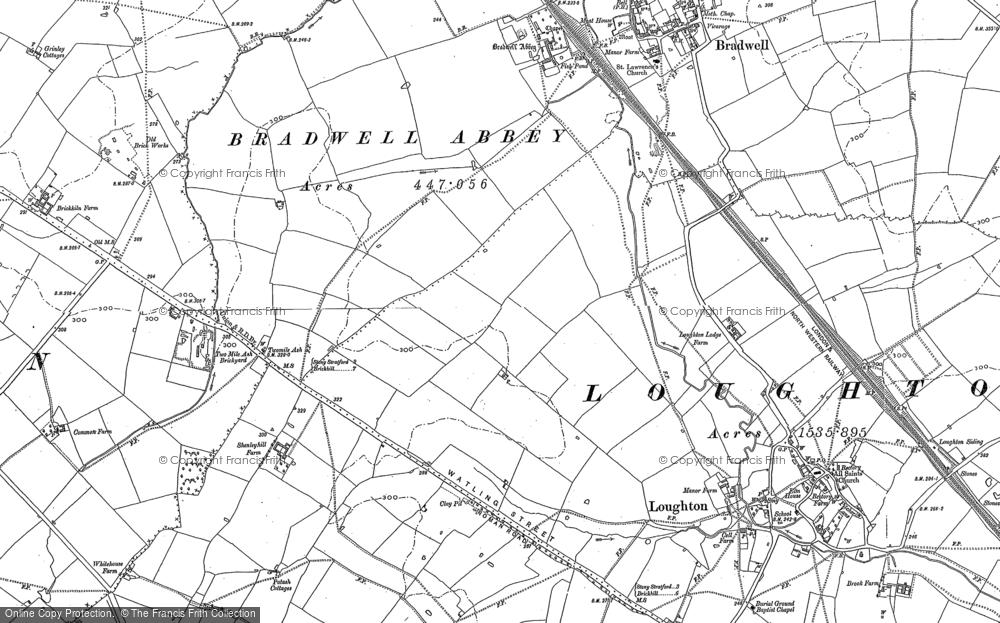 Old Map of Wymbush, 1898 - 1924 in 1898