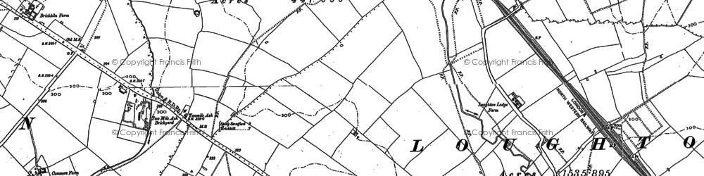 Old map of Wymbush in 1898