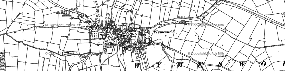 Old map of Wymeswold in 1901